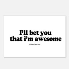I'll bet you that I'm awesome -  Postcards (Packag