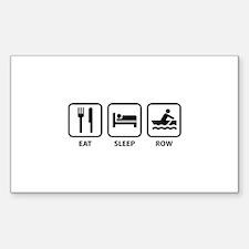 Eat Sleep Row Decal