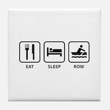 Eat Sleep Row Tile Coaster