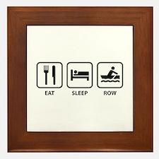 Eat Sleep Row Framed Tile