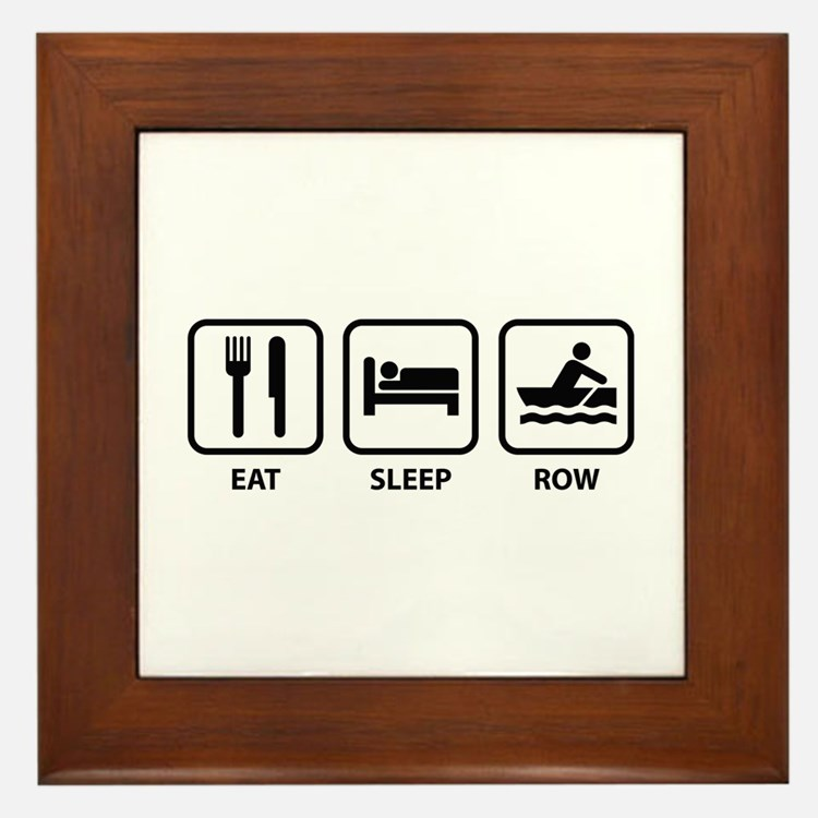 Eat Sleep Row Framed Tile