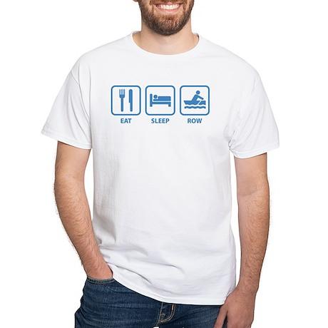 Eat Sleep Row White T-Shirt
