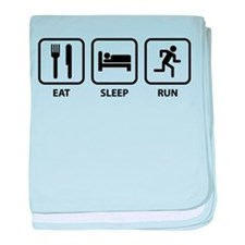 Eat Sleep Run baby blanket