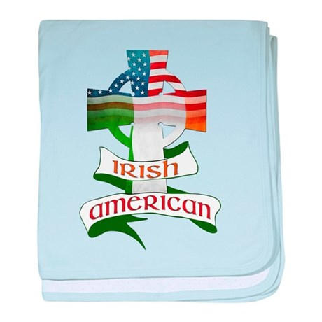 Irish American Celtic Cross baby blanket