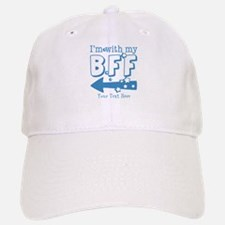 CUSTOM TEXT Im With My BFF Baseball Baseball Cap