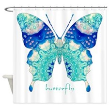 Bliss Butterfly Shower Curtain