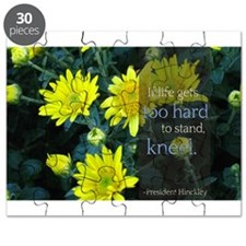 LDS Quotes- If life gets too hard to stand... Puzz