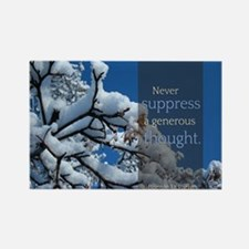 LDS Quotes- Never suppress a generous thought Rect