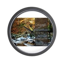 LDS Quotes- Courage, not compromise... Wall Clock