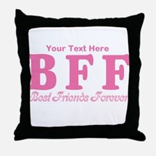 CUSTOM TEXT Best Friends Forever Throw Pillow