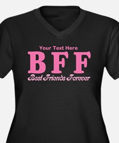 CUSTOM TEXT Best Friends Forever Women's Plus Size