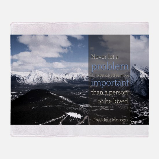 LDS Quotes- Never let a problem to be solved... S
