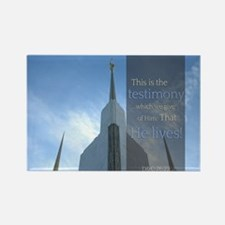 LDS Quotes- That He Lives! Rectangle Magnet