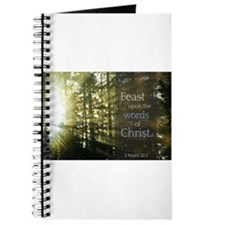LDS Quotes- Feast upon the words of Christ Journal