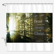 LDS Quotes- Feast upon the words of Christ Shower