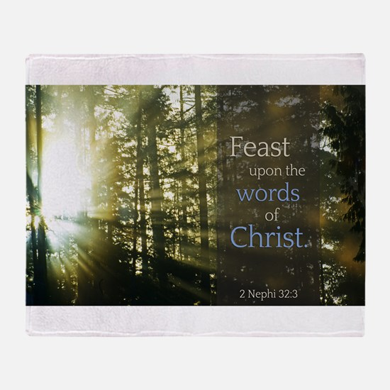 LDS Quotes- Feast upon the words of Christ Stadiu