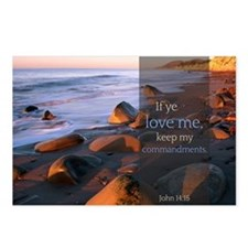 If ye love me, keep my commandments Quote Postcard