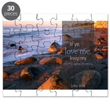 If ye love me, keep my commandments Quote Puzzle