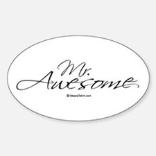 Mr. Awesome - Oval Decal