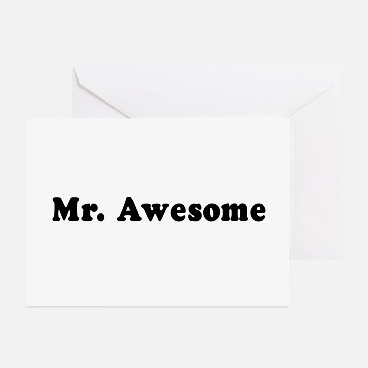 Mr. Awesome - Greeting Cards (Pk of 10)