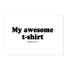 My Awesome T-shirt -  Postcards (Package of 8)