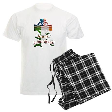 Irish American Celtic Cross Men's Light Pajamas