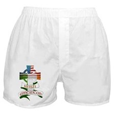 Irish American Celtic Cross Boxer Shorts