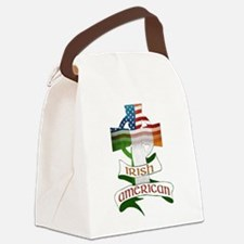Irish American Celtic Cross Canvas Lunch Bag