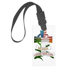 Irish American Celtic Cross Luggage Tag