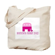 Pink Elephant Romney/Ryan 2012 Tote Bag