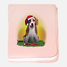 Christmas Beagle baby blanket