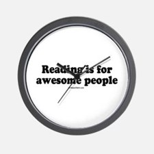 Reading is for awesome people -  Wall Clock