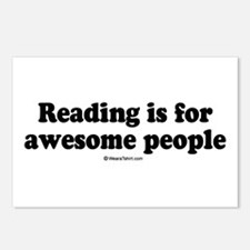 Reading is for awesome people -  Postcards (Packag