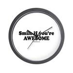Smile if you're awesome -  Wall Clock