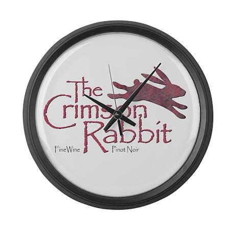 Crimson Rabbit Pinot Noir Large Wall Clock
