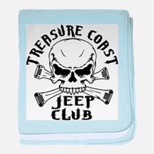 Jeep Club Skulls baby blanket