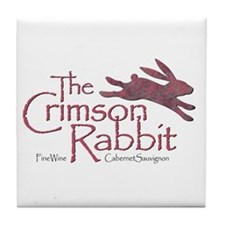 Crimson Rabbit Cabernet Sauvignon Tile Coaster