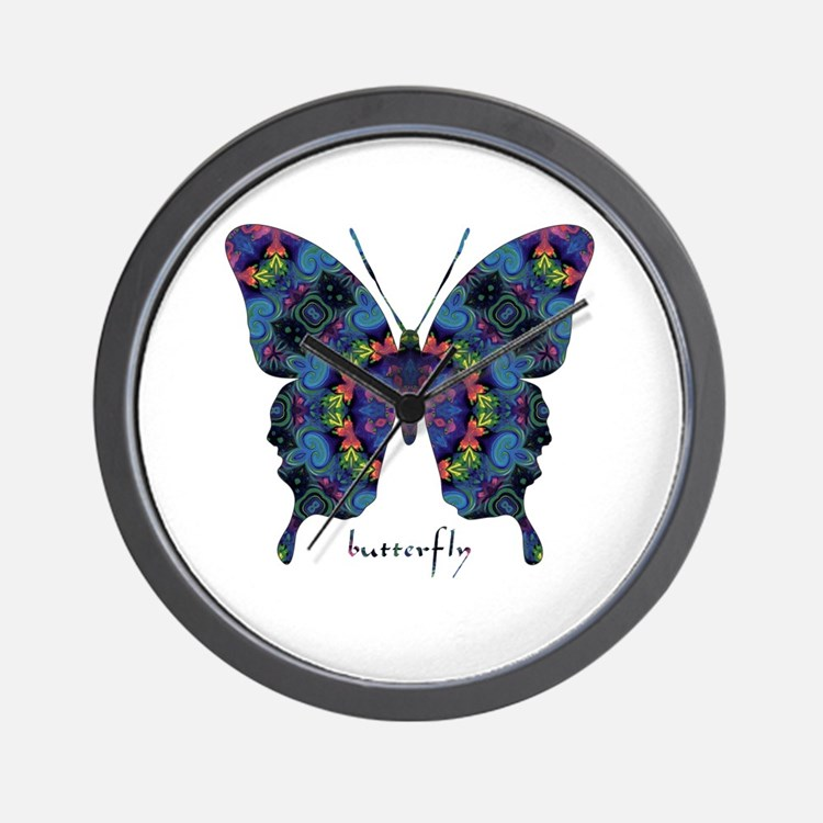 Festival Butterfly Wall Clock