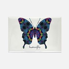 Festival Butterfly Rectangle Magnet