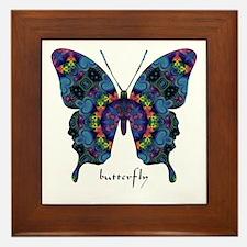 Festival Butterfly Framed Tile