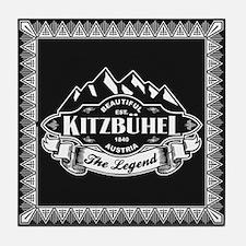Kitzbühel Mountain Emblem Tile Coaster