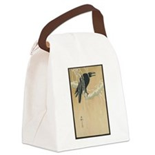 Winter Crow Canvas Lunch Bag