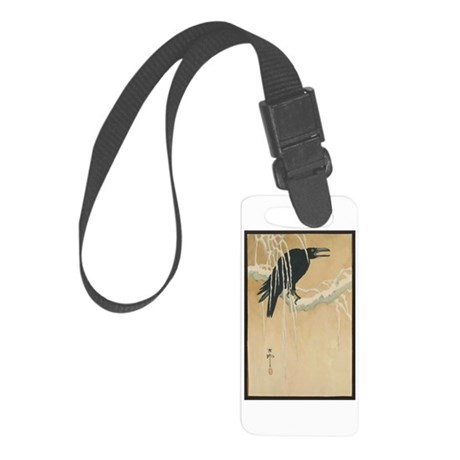 Winter Crow Small Luggage Tag