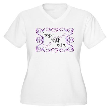 CF Hope Faith Cure Curls Women's Plus Size V-Neck