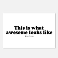 This is what awesome looks like -  Postcards (Pack