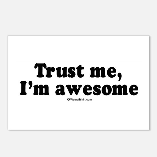 Trust me, I'm awesome -  Postcards (Package of 8)