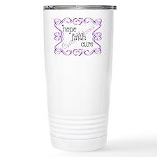 CF Hope Faith Cure Curls Travel Mug