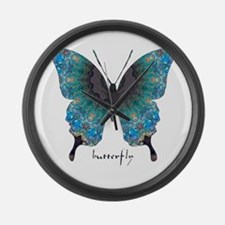 Transformation Butterfly Large Wall Clock
