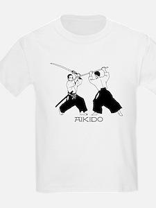 Aikido sword black w/text T-Shirt