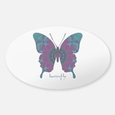 Luminescence Butterfly Sticker (Oval)